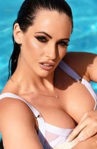 Anastasia Harris Wet Bikini Brunette