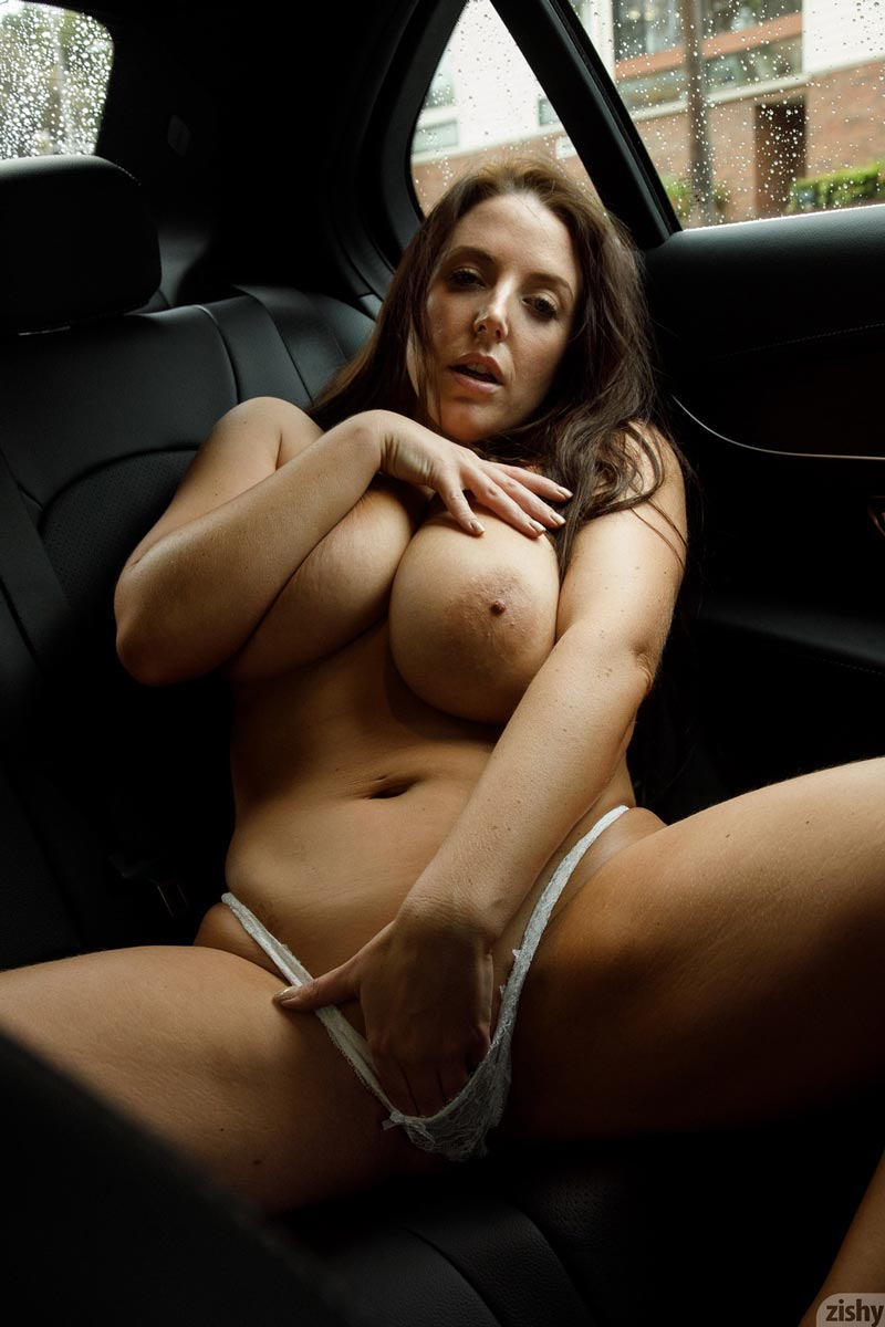 image Mom brunette milf gets fucked before date night starts