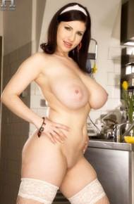 Karina Hart Topless in Stockings