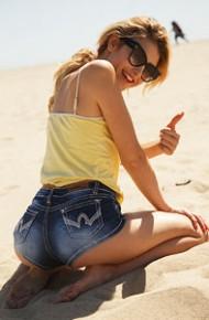Ksenia Gali at the Beach