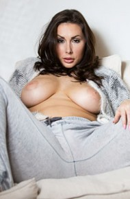 Paige Turnah Lounging Topless