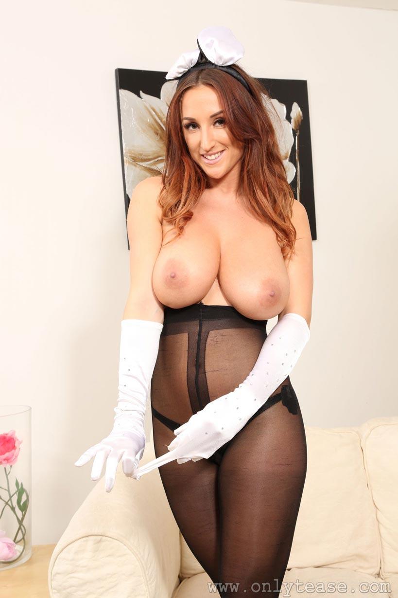 Busty uniform milf sabrina big tits show off 5