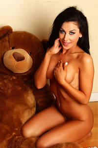 Danielle and her Big Teddy