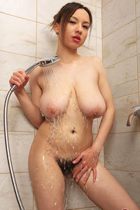 Veronika Hairy Girl in the Shower