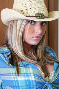 Cowgirl Stina in White Panties