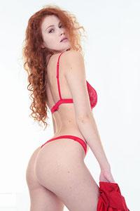 Heidi in Red Lingerie
