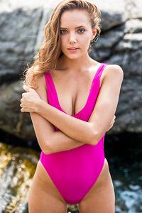Katya Clover Purple Swimsuit