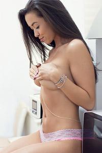 Kimber Leen Topless in Panties