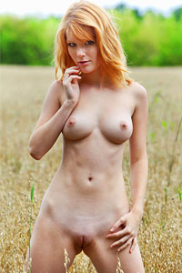 Mia Sollis Redhead In the Outdoors