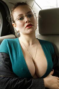 Shelley Fox Topless in a Car