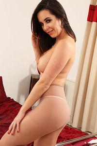 Gracie Adams in Tan Pantyhose