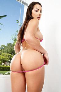 Lily Adams Tiny Bikini