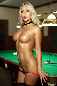 Busty Blonde Loves Pool