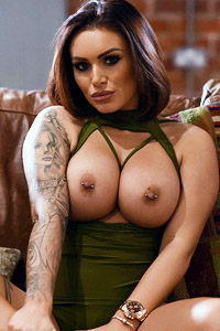 Gemma Massey Green Bodysuit