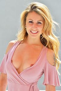 Leah Sexy Blonde in a Dress