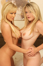 Brookie G Posing with a Busty Blonde