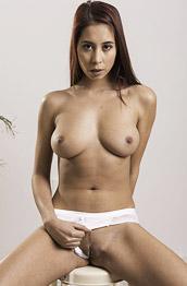 Paula Shy Teasing in her White Undies