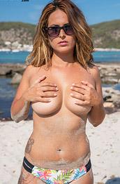 Sarah P In a Sexy Floral Bikini