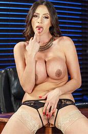 Ariella Ferrera Busty Exotic Office Babe