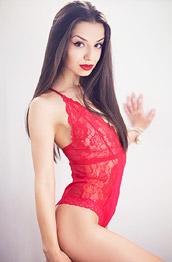 Kristen Belle in Red Lace Lingerie