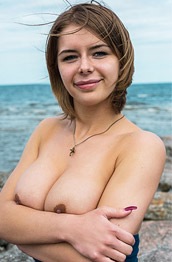 Yelena Naked on Rocks
