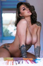Mica Martinez Inked Glam Babe Posing Naked