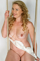 Abi Toyne Naked on a Swing