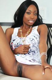 Courtney Slim Ebony in a Dress