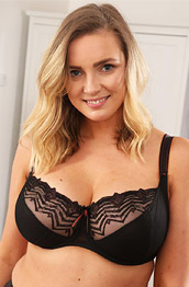 Stacey M Posing in Black Lingerie