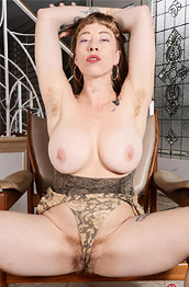 Vestacia Jonquil Hairy Babe Spreads in a Chair