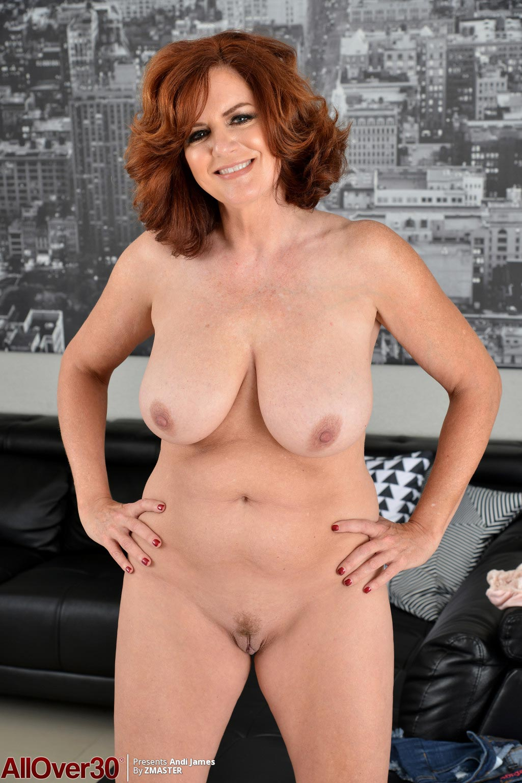 Andi James Mature Housewife Strips Naked-5606