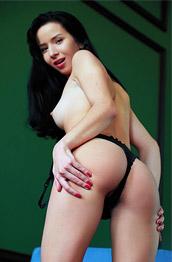 Aurelia Perez Dark Brunette in a Bodysuit