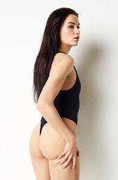 Grace Black Bodysuit