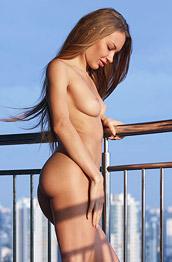 Jolie Naked on the Big Balcony