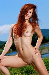 Calista Simon Nude Outdoor Redhead