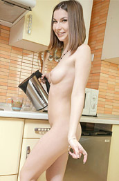 Kerry Foxx Nude in the Kitchen