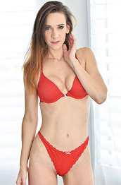 Alora Jaymes in Red Lingerie