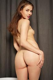Jenna Naked Babe in a Big White Bawl
