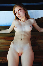 Shayla Slim Nude Redhead with Tight Abs